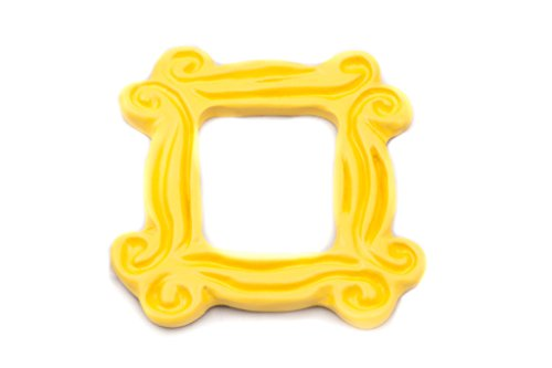 Yellow Peephole Frame Magnet (3 x 3 inch), inspired by the one on Monica's door on Friends