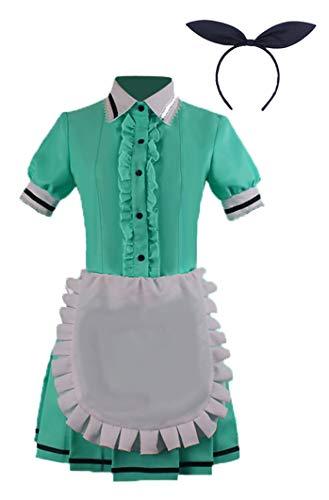 Wish Costume Shop Blend-S Anime Uniforms Cosplay Costumes Full Set (XXL, Green) -