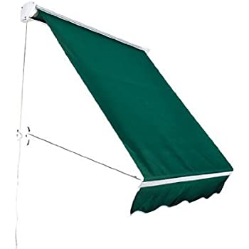 awnings steel restaurant portfolio supports sunbrella fontana awning rounded pic green for fabric in with stainless la