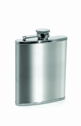 Houdini Pocket Flask (6-Ounce, Stainless Steel) 6 Ounce Pocket Flask