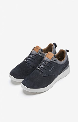 Bleu Homme Jeans Stag Sneakers Suede Basses Jayden Pepe Pwp6q1