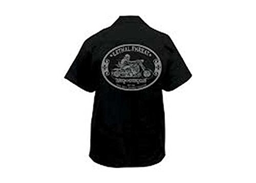 Lethal Threat Designs LT Custom Motorcycle Work Shirt Black LG