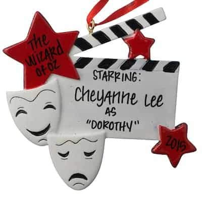Drama Star - Actor/Actress Personalized Ornament - (Unique Christmas Tree Ornament - Classic Decor for A Holiday Party - Custom Decorations for Family Kids Baby Military Sports Or Pets)