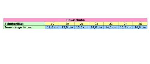 Renbut Mädchen Hausschuhe RB0004(Grau, 19)