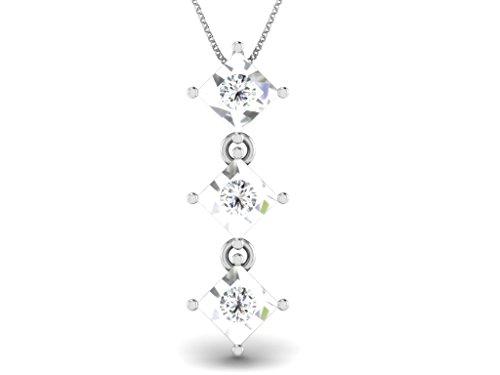 Or Blanc 9 ct Pendentifs Diamant , 0.04 Ct Diamant, GH-SI, 0.94 grammes.