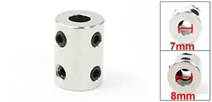 uxcell Shaft Coupling 7mm to 7mm Bore L22xD14 Robot Motor Wheel Rigid Coupler Connector