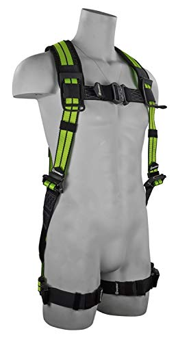SafeWaze FS-FLEX280 No-Tangle Single D-Ring Harness with Quick-Connect Chest &