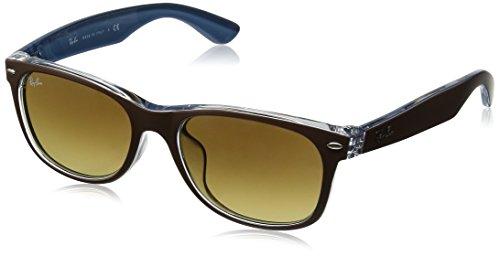 Ray-Ban Unisex 0RB2132F Black - Ban Ray Sunglasses Wayfarer Leather