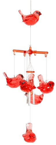 Spoontiques Cardinal Acrylic Wind Chime For Sale