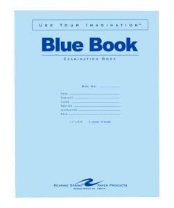 Bulk Exam Blue Books 4 Sheet/8 Page, Wide Margin 11''x8.5'': Roaring Spring 77515 (600 Exam Books) by Roaring Spring
