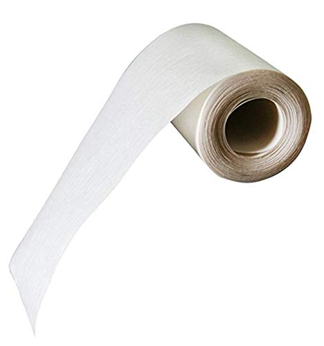Fabrics and Drapes Home Sewing - 4 Inch Wide, White, Iron On/Fusible Buckram/Heading Tape- 12 Yard Piece- Regular Duty/Medium Grade ()