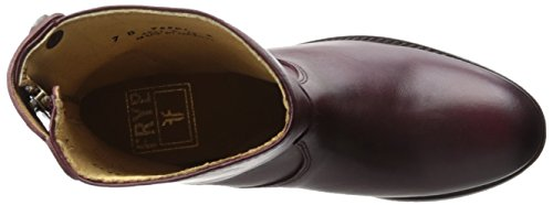 botón 76501 Leather Mujer Melissa Vintage FRYE cremallera Smooth corta Bordeaux xFASqPSw