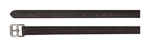 1 Inch Stirrup Leathers - Perri's Leather Black Professional 1-Inch Lined Stirrup Leathers, 60-Inch