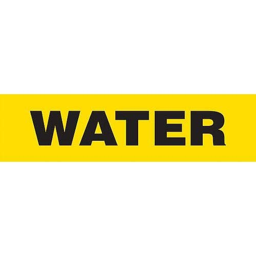 GHS Safety PM1323VB,''Water'' Adhesive Vinyl Pipe Marker, Pack of 500 pcs