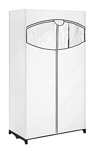 Whitmor Clothes Closet with White Fabric Cover, 36