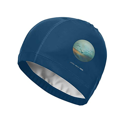 Espor Silicone Swimming Cap with High Elasticity Waterproof and Sunscreen Jason-Mraz-Yes Stylish Bathing Cap