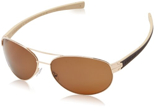 Tag Heuer Lrs253205 Polarized Aviator, Gold & Brown & Ivory, 62mm ()