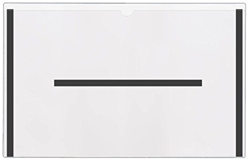 STORE SMART - Magnetic File Jackets - 25-Pack - Clear Plastic Back and Front - 12'' x 18'' - FJ3471STCM-25 by STORE SMART