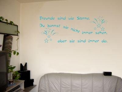Wandtattoo Wandaufkleber Zitat Freunde Sind Wie Sterne Farbe