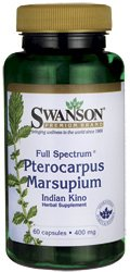 Swanson Full Spectrum Pterocarpus Marsupium 400 mg 60 Caps