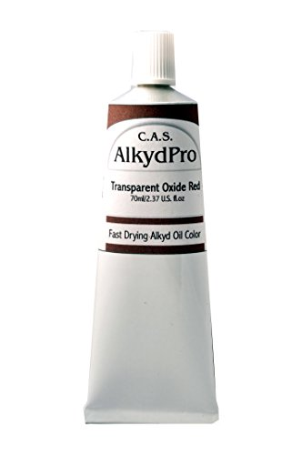 C.A.S. Paints AlkydPro Fast-Drying Oil Color Paint Tube, 70ml, Transparent Oxide Red ()