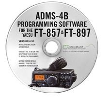 Yaesu ADMS-4B Programming Software on CD with USB Computer Interface Cable for FT-857D & FT-897D by RT Systems by RT Systems