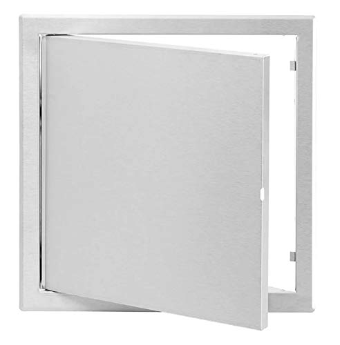 Metal Access Door - Access Panel - White - Stainless Steel Opening Flap (12x16 Inch // 300x400mm) by Ozo Brothers
