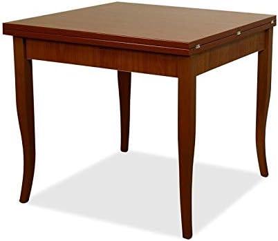Tavolo Da Pranzo Allungabile In Legno Dimensione 90 X 90 Cm 180 Cm Da Esteso Colore Noce Antico Amazon It Casa E Cucina