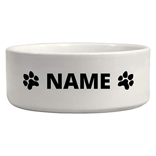 Custom Dog Name Water Bowl: Ceramic Pet Bowl