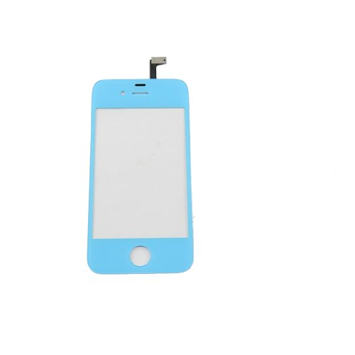 Front Glass Touch Screen Digitizer Replacement for iPhone 4 4G 4S (Light Blue) (Blue Front Glass For Iphone 4 compare prices)