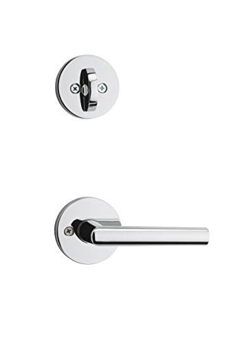 Kwikset 99660-122 Milan Round Single Cylinder Interior Pack Lever in Polished Chrome