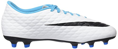 Nike Hypervenom Phade 3 Fg, Botas de Fútbol para Hombre Varios colores (White / Black / Photo Blue / Chlorine Blue)