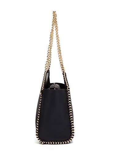 Bag Bag Satchel Women's Lady SHENHAI Handbag Black Black Pure Purpose Bag New Shoulder Bag Multi Women's Negro xwRTT6dqt