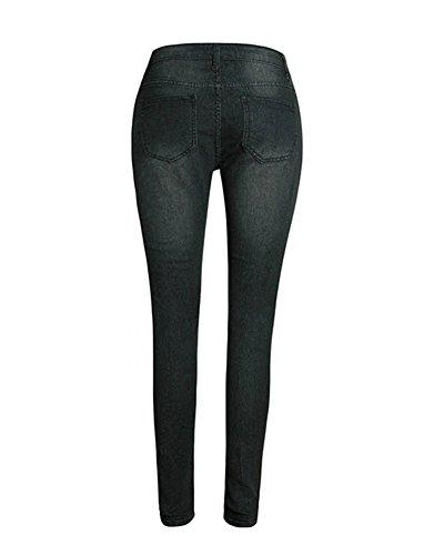 Taille Jeans Leggings Moulant Collant Pantalon Noir Mince Haute Femme Dchirs v7H16