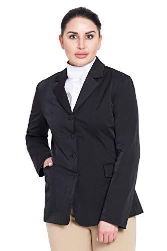 TuffRider Women's Long Starter Show Coat, Black, 6
