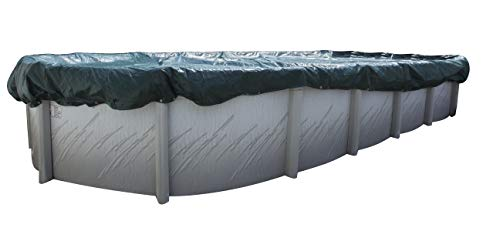 Buffalo Blizzard Supreme Winter Cover for 12-Foot-by-18-Foot Oval Above-Ground Swimming Pools | Green/Black Reversible | 4-Foot Additional Material