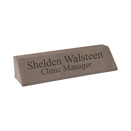 Custom Personalized Leather Desk Nameplate, 8