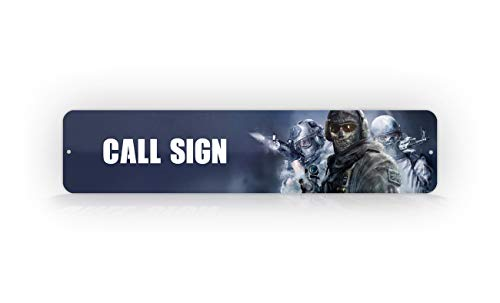 SignsAndTagsOnline Customized Call of Duty Modern Warfare 2 with Ghost Gamer Tag Sign Personalized Novelty Sign