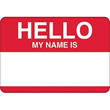 Amscan 457001 Party Name Tags, 2 1/2 x 3 1/2 inches, Red