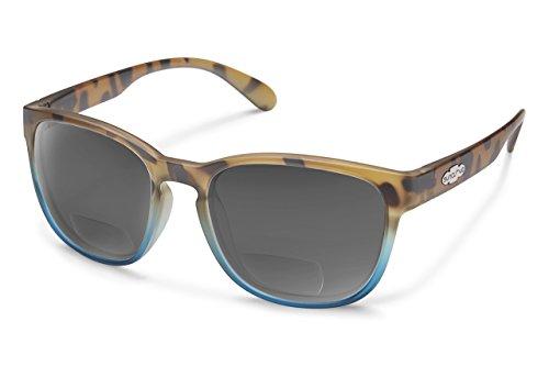 Blue Tortoise Matte - Suncloud Loveseat Polarized Bi-Focal Reading Sunglasses in Matte Tortoise Blue/Grey Lens +2.00