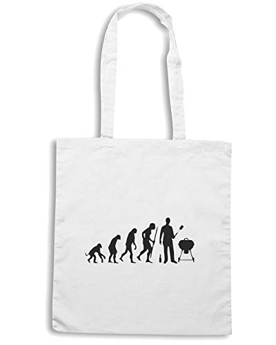 BEER0035 Bianca Speed EVOLUTION BBQ Borsa Shirt Shopper IttWqP6w