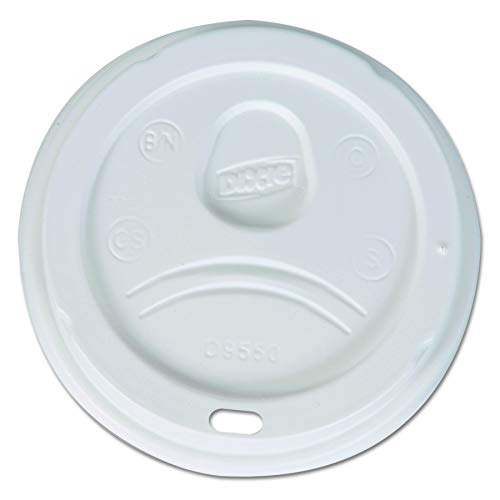 Dixie 20 and 24 oz. Dome Hot Coffee Cup Lid by GP PRO (Georgia-Pacific), White,  D9550, 1,000 Count (100 Lids Per Sleeve, 10 Sleeves Per Case) (Renewed) ()