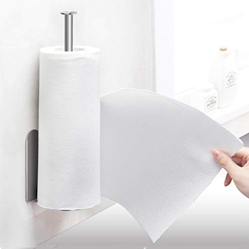 (JHFUH Stainless Steel Toilet Paper Holder Vertical Diversified Paper Towel Holder Wall Mount Paper Holder Storage Rack)