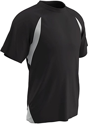 Champro Herren Dri-Gear Full Cut T-Shirt, Jersey, Größe S, Schwarz Weiß