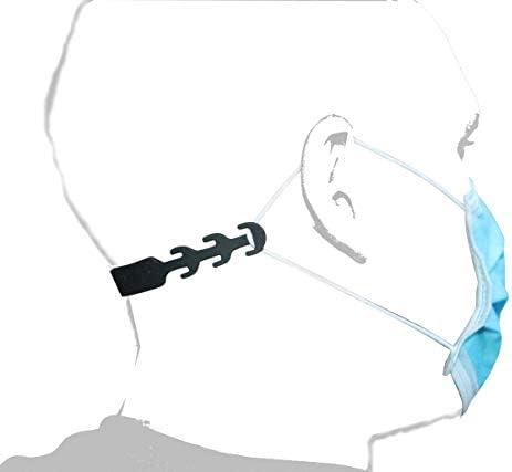 Maskenhaken aus Silikon – Diese Masken-Halter lindern Ohrenschmerzen - Masken-Zubehör zum Schutz der Ohren und für Kinder - rutschfeste Masken-Verlängerung (10 Stück)