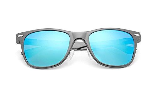 clásicas Sol de uñas Protección Gray MXNET Vintage UV de de polarizadas Sol de Gafas arroz Gafas blue Unisex 8wqqfBgtx