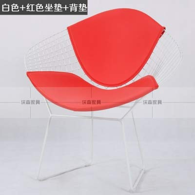 NAHASU Dining Chairs | Pads Cushion for Diamone Wire Chair, Wire Chair Cushion Chair Pad PU Material, only The PAD no Chair