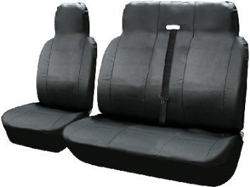 VW Transporter T5 Leather Look Van Seat Covers Single Drivers And Double Passengers Set