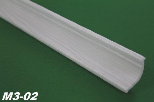 M3-02 2 Meter Polystyrolleiste Stuckprofil Stuckleiste Leiste Profil 35x35mm