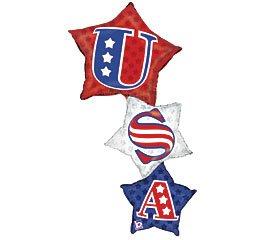 "50"" U.S.A. Patriotic Star Stacker Balloon"